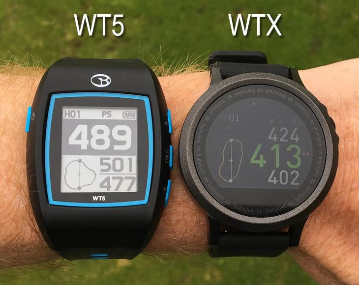 beeldscherm vergelijking golfhorloges